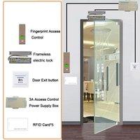 Parmak İzi Erişim Kontrolü EyeYe RFID Sistemi Kiti Kapı Kilidi Seti Eletrik Manyetik Kimlik Kart Güç Tedarikçisi Kutusu Çıkış Button1
