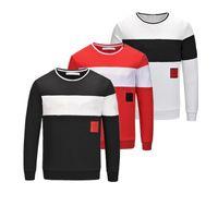 Мужская мода мода дизайн свитер мужской пуловер с длинным рукавом толстовка писем вышивка высокое качество хлопок