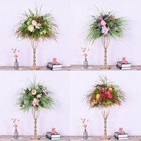 결혼식 시뮬레이션 꽃 단 철 도로 꽃 프레임 창 장식 사진 소품 꽃병 꽃 공