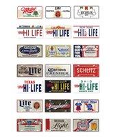 2021 Bière Beer Beer Numéro de plaque d'immatriculation Plaque Tin Panneau Mur Pub Magasin Maison Écharpe Salon Salon Garage Art Art Decor Affiche en métal