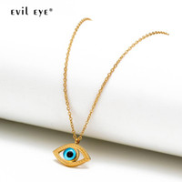 Evil Auge Edelstahl Anhänger Halskette Gold Silber Farbe Kette Türkische Augen Halskette Modeschmuck Für Frauen Weibliche EY6691