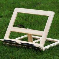 Book Book Stand Holder Soporte de madera portátil ajustable Portátil Tableta Estudio Cocinero Receta Libros Soportes Escritorio Drawer Organizadores 41 K2