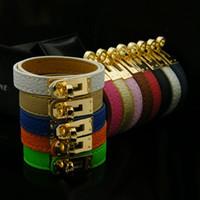 Bijoux Femmes Hommes Bracelets Nouvelle mode H Bracelets Haute Qualité Pu en cuir PU Banglier Bracelets Bijoux