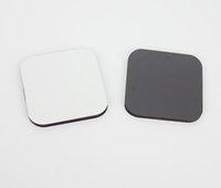 10ピース5CMX5CMX0.4CM空白の昇華木製カスタム冷蔵庫マグネットホットトランスファープリントブランクMDF冷蔵庫磁石