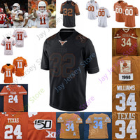 2020 Texas Longhorns Football Jersey NCAA College Derrick Johnson Ricky Williams Leonard Davis Mike Williams Roy Williams Cedric Benson