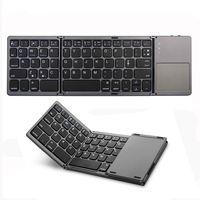 Dobrável portátil keyboard sem fio Bluetooth recarregável BT Touchpad mini teclado para iOS / Android / Windows pad tablet
