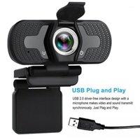 1080P Full HD USB Webcam para PC Desktop Laptop IP Cámara web con micrófono HD CAMPCORDERS DE CONSUMIDOR NUEVO1
