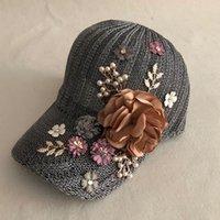Lvtzj moda nova primavera de algodão bonés de beisebol chapéu de verão Cap Hip Hop Floral Cap Bonés para homens Mulheres Moagem multicolor J1210