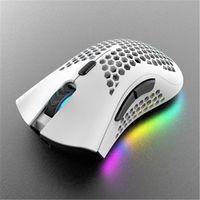 A3 اللاسلكية الجوف خارج الألعاب الفئران RGB الخلفية الخلفية الألعاب الإلكترونية لعبة مهروس الكمبيوتر البصري الماوس لأجهزة الكمبيوتر المحمول 5.0