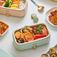 Fogões de arroz 500W Almoço elétrico Caixa de fogão Potenciômetro portátil Multicooker Calor Preservação Cozinhar Mini Frigideira 220v1