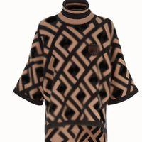 스웨터 여성 스웨터 FF 가을과 겨울 더블 FF 인쇄 하이 넥 풀오버 숙녀 스웨터 여자 여성 디자이너 옷 여성