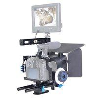 Yelangy YLG1105Aマットボックスが付いているビデオカメラのケージスタビライザーキットのハンドルPanasonic Lumix DMC-GH4 G7ソニーA7 A7S A7R A
