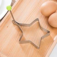 Creative Diferentes formas Acero inoxidable Frito Huevo Frito Molde de panqueques Inicio DIY Desayuno Equipo Sándwich Hornear Herramientas Utensilios YYS3799