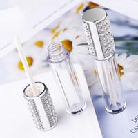 5ml diamant vide rond lèvre gloss tube haute qualité classement plastique lèvre gloss conteneurs remplissage bouteille de conditionnement cosmétique conteneur eea27