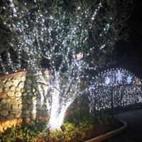 白い100 LEDソーラーストリング妖精のライトクリスマスパーティーの防水高輝度ホリデーライティングLED文字列卸売