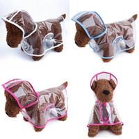 Cães Ao Ar Livre Moda Raincoat Pequeno Cão Médio Cão Transparente Poncho Poncho Products Produtos Raincoats Pet Acessórios 8mm F2