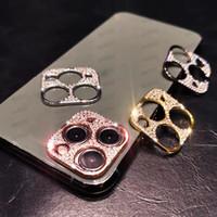 Protectores de lentes de cámara de diamantes para iPhone 12 12 Pro Max Shiny Bling Diamond Funda de lente para iPhone 11 12 Mini protector Casos