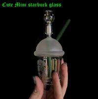 Girls Liebe Niedliche Mini Starbuck Glas Bong Starbucks Becher Glasbongs Sandgestrahlte Glasrohre Für Rauchen Wasserbongs und Nagelhukas
