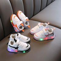Printemps Automne Chaussures Enfants Garçons Filles LED éclairait Souliers Sneakers enfants Brillant Etoiles Mode souple Taille 21-30 HE-S8