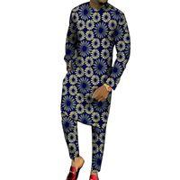 ملابس رجل قمصان طويلة مع السراويل الأزياء خليط قمم + بنطلون مخصص صنع الرجال ملابس الرجال الأفريقية بانت لحزب