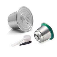 Cápsulas de café de aço inoxidável Reutilizável nespresso cápsulas Refilable pods compatível com máquinas como Nespresso-U Pixie