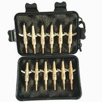 """12PCS Swhacker 2 شفرات القابلة للتوسيع broadheades 100 الحبوب 1.75 """"قطع الهدف الصيد مع صندوق 201111"""