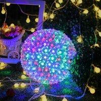 100 المصابيح / 200LEDS / 300LEDS أزهار الكرز الصمام سلسلة ضوء عيد الميلاد ديكور مصباح زهرة الكرة شنقا أضواء حزب ديكور المنزل 201128