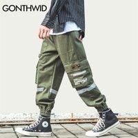 Gonthwid Side Zipper Poches à glissière Cargo Harem Joggers Pantalons Streetwear Men Harajuku Hip Hip Hip Hipster Casual Baggy Pantalons de survêtement 201221
