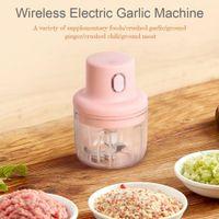 Wireless Mini Electric Garlic Artifact Small Household Garlic, And Ginger Garlic Crushing Pounding Mining, Chopping Vegetab Y7L2 Y1204