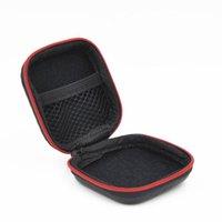 Bolsa de zíper de fibra de carbono para cabo de fone de ouvido mini caixa sd cartão portátil moeda bolsa bolsa de fone de ouvido carregando bolsa de bolso duro