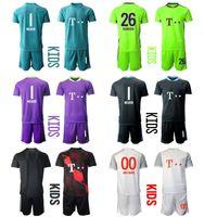 2021 Saison Camisa de Futbol Custom Kids Kit Torhüter 26 Ulreich 1 Neue Football Jerseys 5 Pavard 21 Hernandez Jungen Uniform Sets