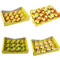 Пасхальные мини-птенцы набор красочных пасхальных украшений игрушка подходящий размер для пасхальных яиц вечеринка благополучие и подарки для детей