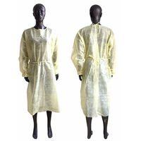 غير المنسوجة الملابس الواقية المتاح العزلة العباءات الملابس الدعاوى المضادة للغبار ملابس واقية في الهواء الطلق المتاح المعطف OOA55
