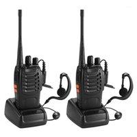 2pcs Baofeng BF-888S UHF 400-470 MHz 2 웨이 라디오 TWEE 16CH WALKIE TANCIE MIC FM 트랜시버 DC Power1