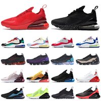 2021 New 270 React Fly 2.0 running shoes triple black white red women men Chaussures Bred Be True mens trainers Outdoor Sports Sneakers