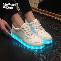 Размер 27-42 Детские Светодиодные Обувь для мальчиков USB Зарядное устройство Светящиеся Дети Девушки Кроссовки Светящиеся Световые Обувь Светодиодные Светодиодные Женщины Y1118