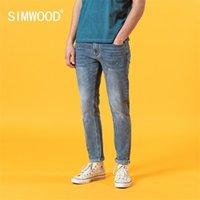 Simwood Summer New Slim Fit Light Blue Джинсы Мужчины Мода Классические Джинсовые Брюки Высококачественные Бренда Одежда SJ120387 201105