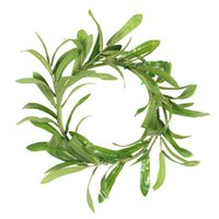 Hot Artificial Olive Leaf Wreath Green Leaves Front Door Hom...