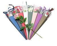 Geschenk Wrap Single Rose Box Blumenurlaub Benutzerdefinierte Blumen Paketladen Dediziert Großhandel