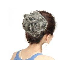 New Arrival Fashion Colors Pom-Pom Hair Ball Kolorowe Rozszerzenie Sztuczne Włosy Chignons Naprawiono przez podwójne strony klipsy