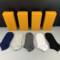 2021 Designer Mens Womens Calze da donna Cinque marca Luxe Sport Inverno Maglia Lettera stampata Calzino in cotone uomo Calzini femminili con scatola per regalo