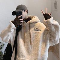 Privathinker verdicken plus samt männer hoodies herbst winter neue männer mit kapuze sweatshirts mann streetwear casual pullovers 201104
