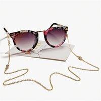 Diamond Eyeglasses цепи с двойными бусинами для женщин, чтение очки очки ремешки веревки медные золотые очки аксессуары 78 см