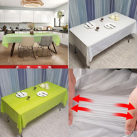 직사각형 식탁보 일회용 멀티 컬러 플라스틱 시트 방수 오일 증거 장식 테이블 커버 파티 용품 1 8FC K2