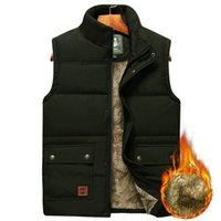 الرجال حجم كبير الملابس الشتوية سترة السترات بلا أكمام معطف الفرو الأزياء كبيرة الحجم 8xl الذكور الدافئة صدرية الصوف سترة الرجال 201126