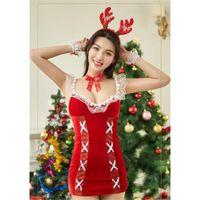 Frauen Weihnachten erotische Dessous Sets Mode Trend Rot Sexy Versuchung Bar Nachtclub Festival Kleidung Designer Weibliche sexy Unterwäsche Anzüge