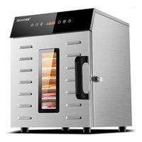Dehidrator Dehidrasyon Kurutucu Kurutulmuş Meyve Makinesi Ev ve Ticari Akıllı Dokunmatik 8 katlı Kapasiteli Görsel Kapı Işıklı Dehidrator1