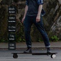 ركلة الدراجات البخري Koowheel 2nd الجيل الكهربائي longboard 4 عجلة كهربائي hoverboard سكيت المحرك المزدوج طويل المدى 42km مجموعة speed1