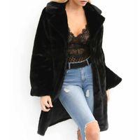Kadın Kürk Faux Kadınlar Kış Uzun Kollu Ceket Katı Hırka Ceket Palto Sıcaklık Dış Giyim Famale Moda Clause Streetwear