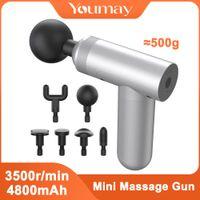 Youmay mini massagem arma fáscia arma esporte therapy therapy massager muscle massager corpo relaxamento dor alívio emagrecimento shaging massager q1225